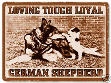 German Shepard Metal sign pet dog vintage style great gift wall decor art 268