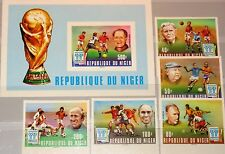 NIGER 1977 593-97 Block 18 U 412-417 Soccer World Cup 1978 Fußball Football MNH