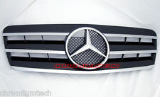 97-2002 Mercedes W208 CLK BLACK/ CHROME GRILL W209 LOOK AMG CLK55 CLK230 CLK320