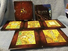 ****THE RIVEN**** THE SEQUEL TO MYST  (5 CD'S) & USER MANUAL