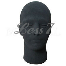 New Polystyrene Black Foam Male  Mannequin Dummy Stand Model Shop Display Head