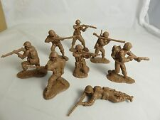 Classic Toy Soldiers U.S. GI's set #1, 16 figures in 8 poses 54mm TAN plastic