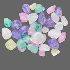 3657CK    Quartz Gemstone Nugget Drilled Bead Drilled Mix, Dyed, pkg of 10 Qty