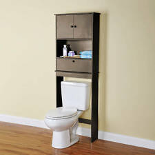 Over The Toilet Bathroom Cabinet Wood Storage Organizer Shelf Space Saver ESPREO