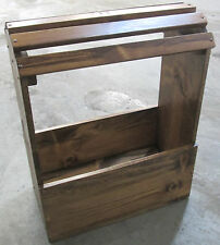 WOOD SADDLE STAND OR RACK - COMPLETELY ASSEMBLED & FINISHED IN EARLY AMERICAN