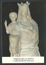 Estampa Virgen de la Oliva andachtsbild santino holy card santini