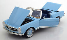 Norev 1963-1967 Mercedes Benz 230 SL W113 Convertible Light Blue Dealer Ed 1/18