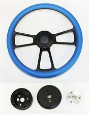 67 68 Buick Skylark Gran Sport Riviera Sky Blue on Black Steering Wheel 14""