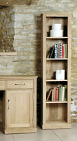 SOLID OAK TALL SLIM NARROW BOOKCASE OPEN DISPLAY UNIT