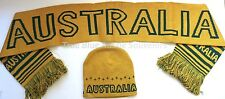 Australian Souvenir Scarf & Beanie Set - Australia Green and Gold