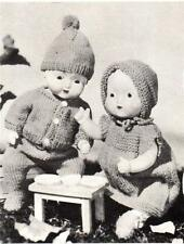"""BOY & GIRL  6 pieces for 11"""" doll - COPY doll knitting pattern"""