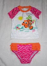 INFANT GIRL SIZE 12-18M DISNEY BABY NEMO RASH GUARD SWIMSUIT DISNEY STORE NWT