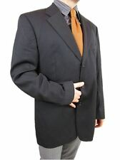 HUGO BOSS Men's Super 100 Wool Vtg Tailored Tweed Suit Jacket Blazer EU 56 AS20