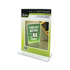 Nu-Dell Clear Plastic Sign Holder - 38020Z