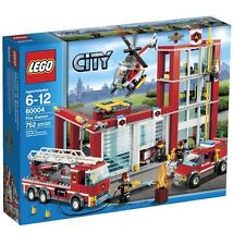 "BRAND NEW! LEGO CITY ""FIRE STATION"" WITH 753 PIECES 60004"