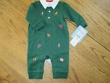 Chaps Baby Boy 3 Month Christmas Holiday Outfit NEW DARK GREEN KNIT