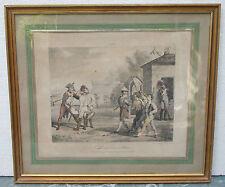 Horace Vernet Ancienne lithographie couleur Soldat Grivet
