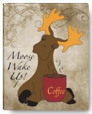 The Lost Moose Company Wall Canvas Art Picture Coffee Station 8x10 Wake Up Quote