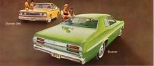 1971 Plymouth Duster Post Card Mailer Sales Brochure Dealer Advertisement Invite