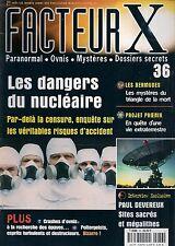 FACTEUR X N° 36--DANGERS DU NUCLEAIRE/LES BERMUDES/PROJET PHOENIX/DEVEREUX