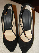 VERY NICE SUEDE LEATHER ZARA WOMAN SHOES - SIZE 36