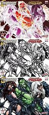 AMAZING SPIDERMAN 19 CHAMPIONS 1 VENOM BLACK CAT NYCC NEGATIVE B&W COLOR VARIANT