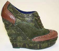 Women's Shoes Poetic Licence WILD SAFARI Oxford Platform Wedge Pump Green 8/ 8.5