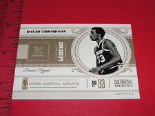 NATIONAL TREASURES 2010-11 David THOMPSON #155 Gold/5 NUGGETS North Carolina St