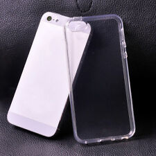 NEW Ultra Thin Gel Rubber TPU Soft Case Cover Clear For iPhone 5 5s