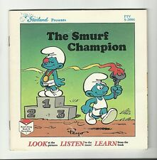STARLAND The Smurf Champion {1983} BOOK AND RECORD 45