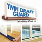 2 x TWIN DRAFT DRAUGHT GUARD EXCLUDER ENERGY SAVING DOOR & WINDOW HEAT INSULATOR