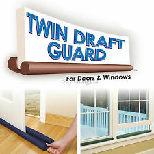 TWIN DRAFT DRAUGHT GUARD EXCLUDER ENERGY SAVING DOOR & WINDOW HEAT INSULATOR