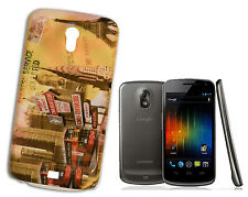 COVER FLIP COMPATIBLE SAMSUNG NEXUS PRIME METROPOLIS YELLOW GREY RED