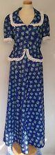 Vintage 1970's 2 Piece Blouse & Maxi Skirt