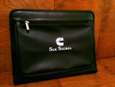 "Cummins ""C"" Sigma Six Embroidered Deluxe Leather Planner Organizer NEW w/Paper"