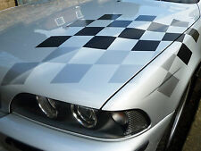 BMW M sport style GREYS chequered flag sticker  E30 E36 E39 E46 E90 M3 M5 Z4