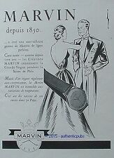 PUBLICITE MARVIN MONTRE LES AMOUREUX ART DECO DE 1951 FRENCH AD ADVERT WATCH PUB
