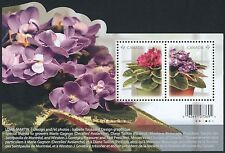 Canada Stamps -Souvenir sheet -2010, Flowers: African Violets #2376 -MNH