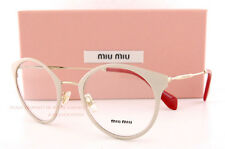 Brand New Miu Miu Eyeglass Frames MU 51P 51PV UST GOLD/POWDER For Women Size 50