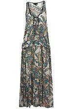 Stunning Topshop Butterfly Wing Print Wilderness Maxi Evening Summer Dress 10