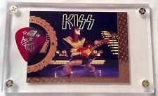 KISS Ace Frehley limited gold foil chase card / tour guitar pick display #F8!!!