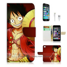 iPhone 7 (4.7') Flip Wallet Case Cover P0162 One Piece Luffy