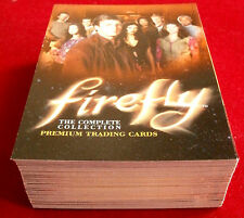 Joss Whedon's FIREFLY - COMPLETE BASE SET of 72 trading cards - Inkworks 2006