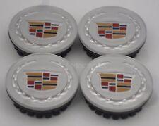 (4) Cadillac ATS CTS DTS SRX STS XTS Silver Center Caps Cap 9597375