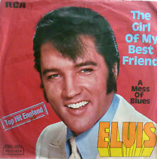 "7"" 1968 VG+! ELVIS PRESLEY : The Girl Of My Best Friend"