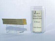 "40 Solid Brass Metal Collar Stays For Dress Shirts 2.5"" Inch Jake's Medium"