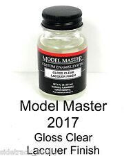 Model Master 2017 Gloss Clear Finish 1 oz  Lacquer Paint Bottle