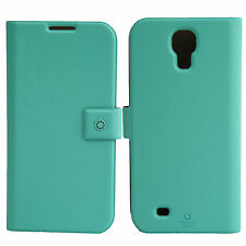 FENICE Diario Samsung Galaxy S4 Premium Italian PU Leather Case - Tiffany Blue