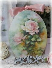 "~ Pink Roses"" ~ Vintage ~ Shabby Chic~Country Cottage style ~ Wall Decor Sign ~"