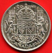 1946 Canada 50 Cent Silver Coin ( 11.66 grams .800 Silver )